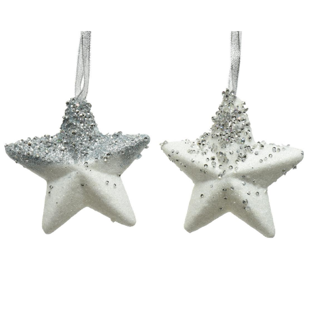 Beaded Star Christmas Hanging Decoration