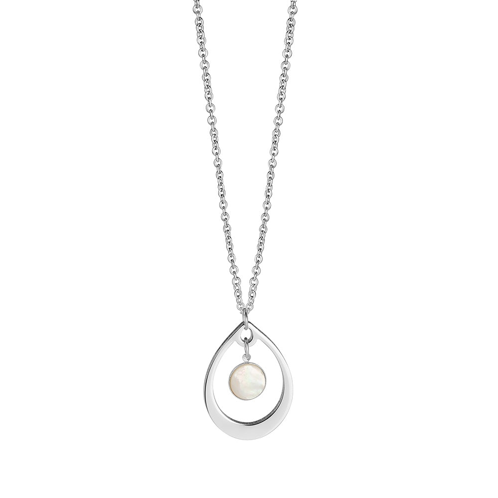 Dew Drop Pendant with Pearlescent Stone