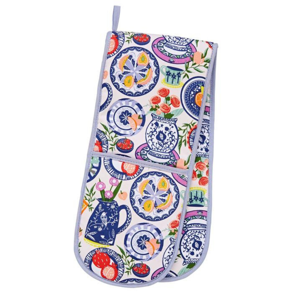 Double Oven Gloves - Mediterranean Plates
