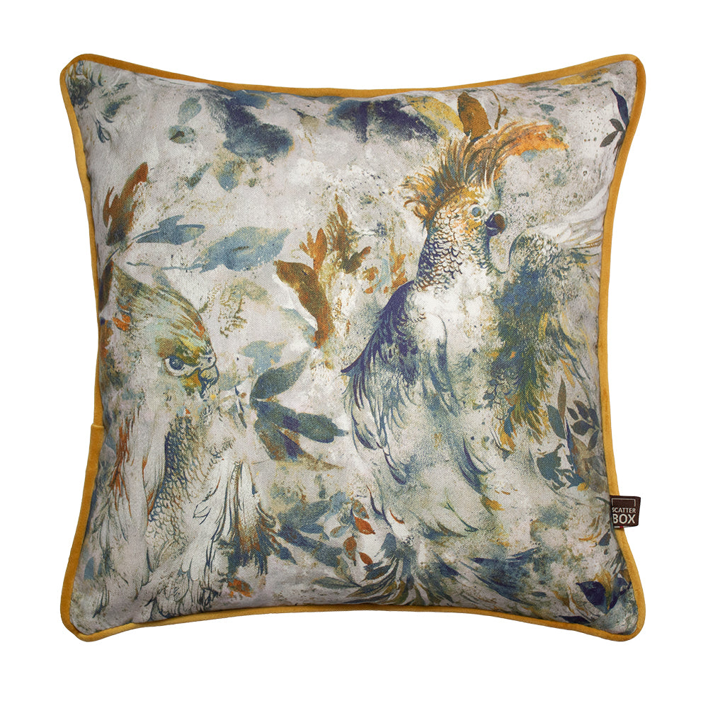 Seren 45x45cm Cushion Blue/Ochre