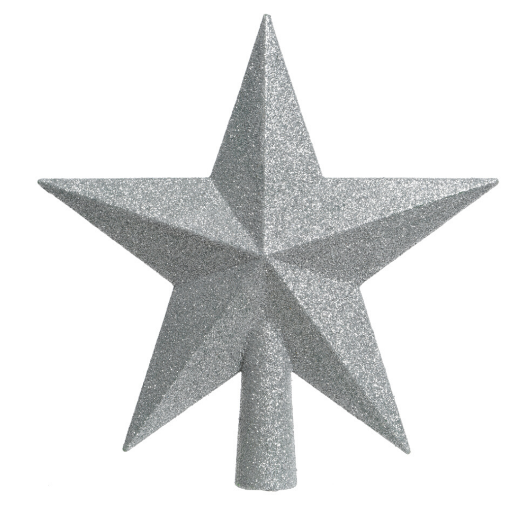 Christmas Star Tree Topper, Silver
