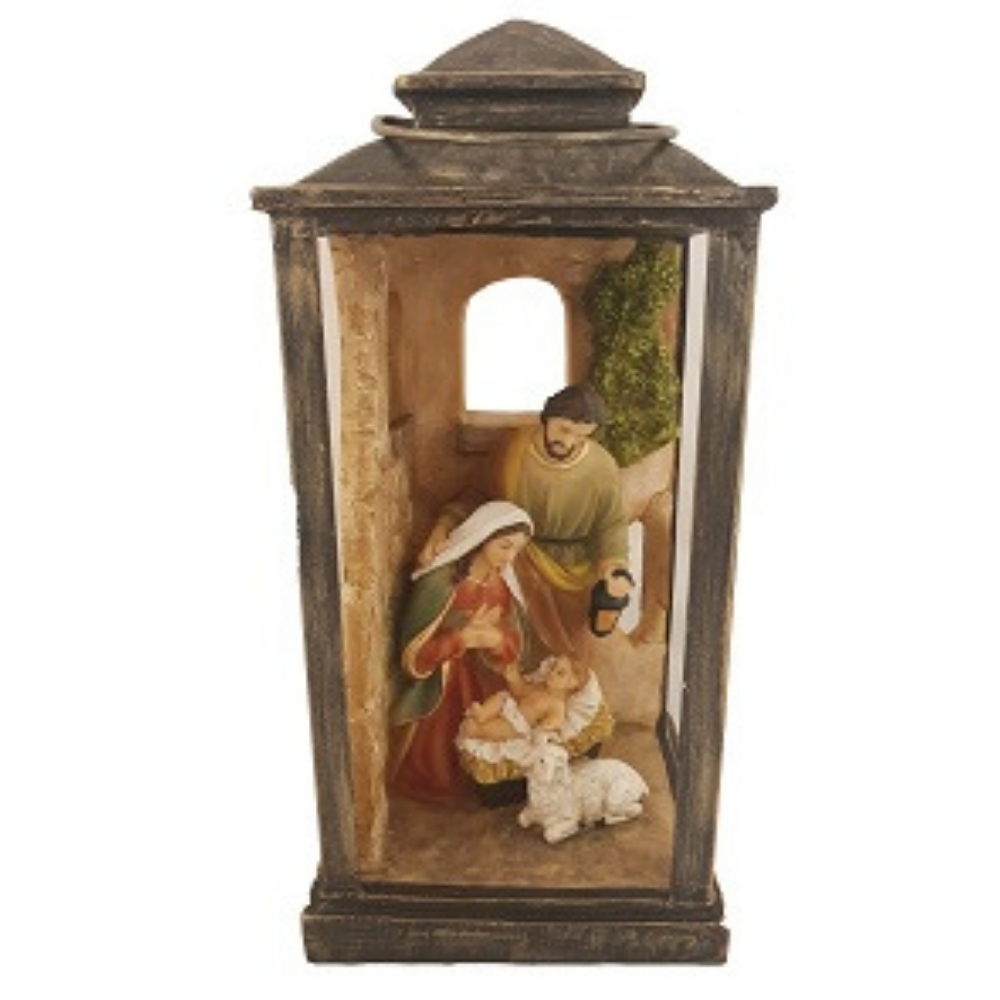Holy Family Lantern With Light
