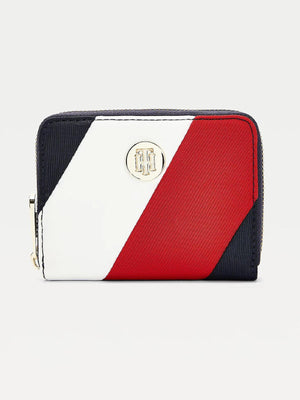 Medium Monogram Plaque Zip Around Wallet
