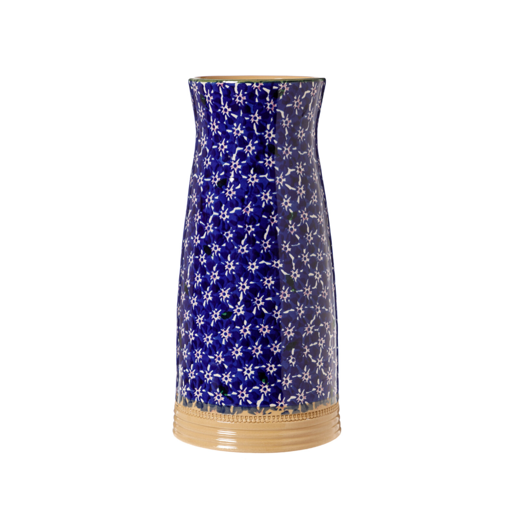 Large Tapered Vase Dark Blue Lawn