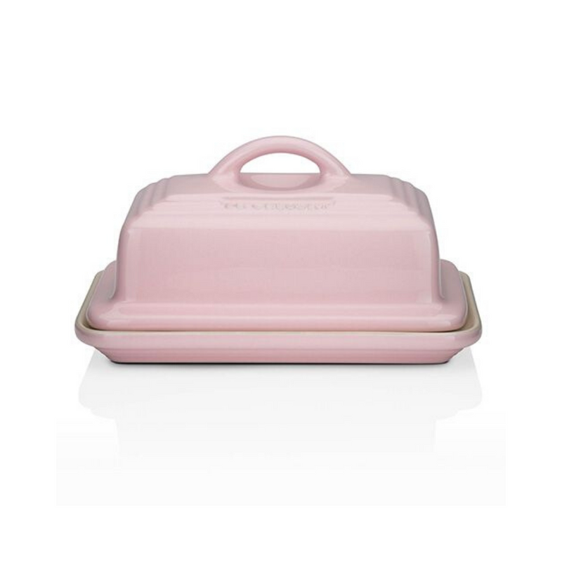 Stoneware Butter Dish, Pink