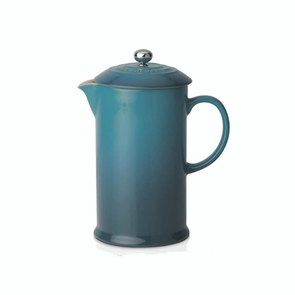 Stoneware Cafetiere with Metal Press, Deep Teal