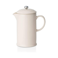 Stoneware Cafetiere with Metal Press, Almond