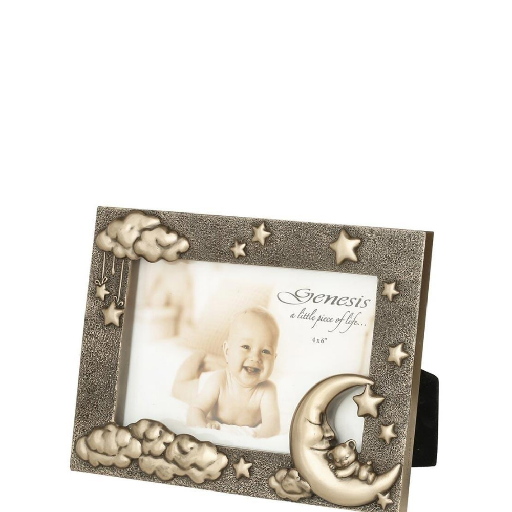 Moon & Teddy Picture Frame, 4x6