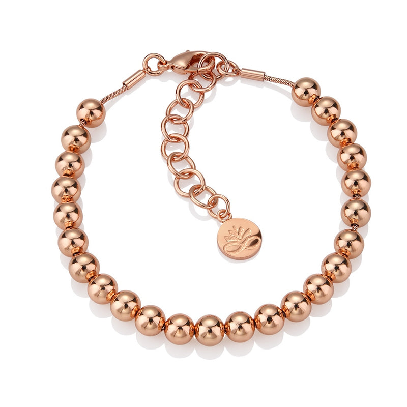 Rose Gold Plate Small Bead Bracelet
