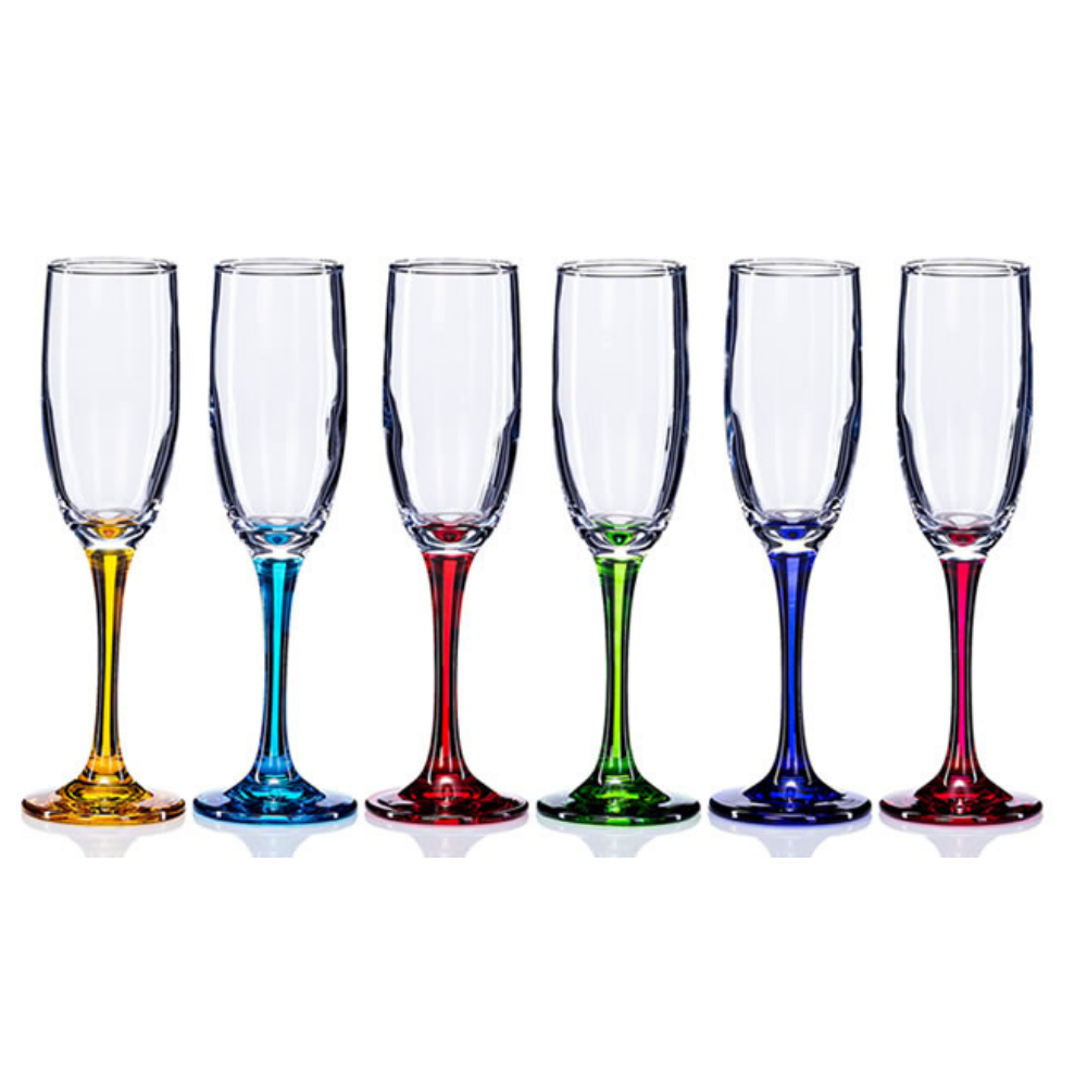 Rainbow Party Prosecco Flutes