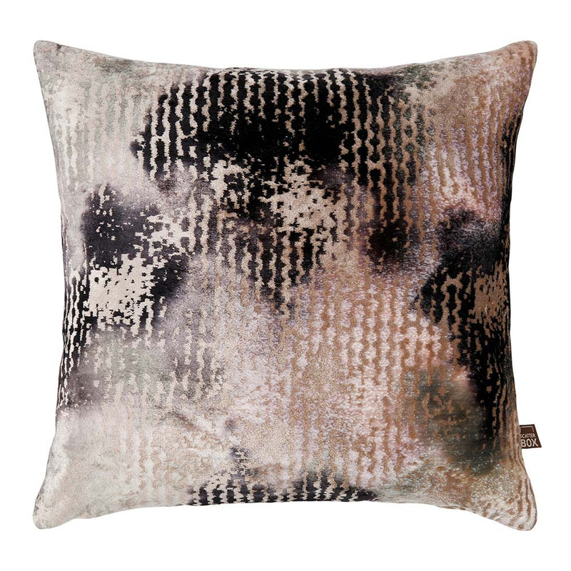 Nisha Cushion 43 x 43 CM, Mink/Charcoal