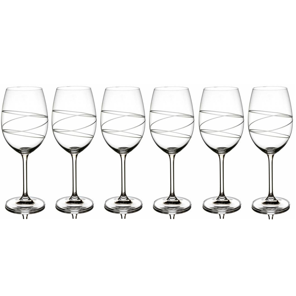 Orbit Cut Wine Set Of 6 Glasses 450ml