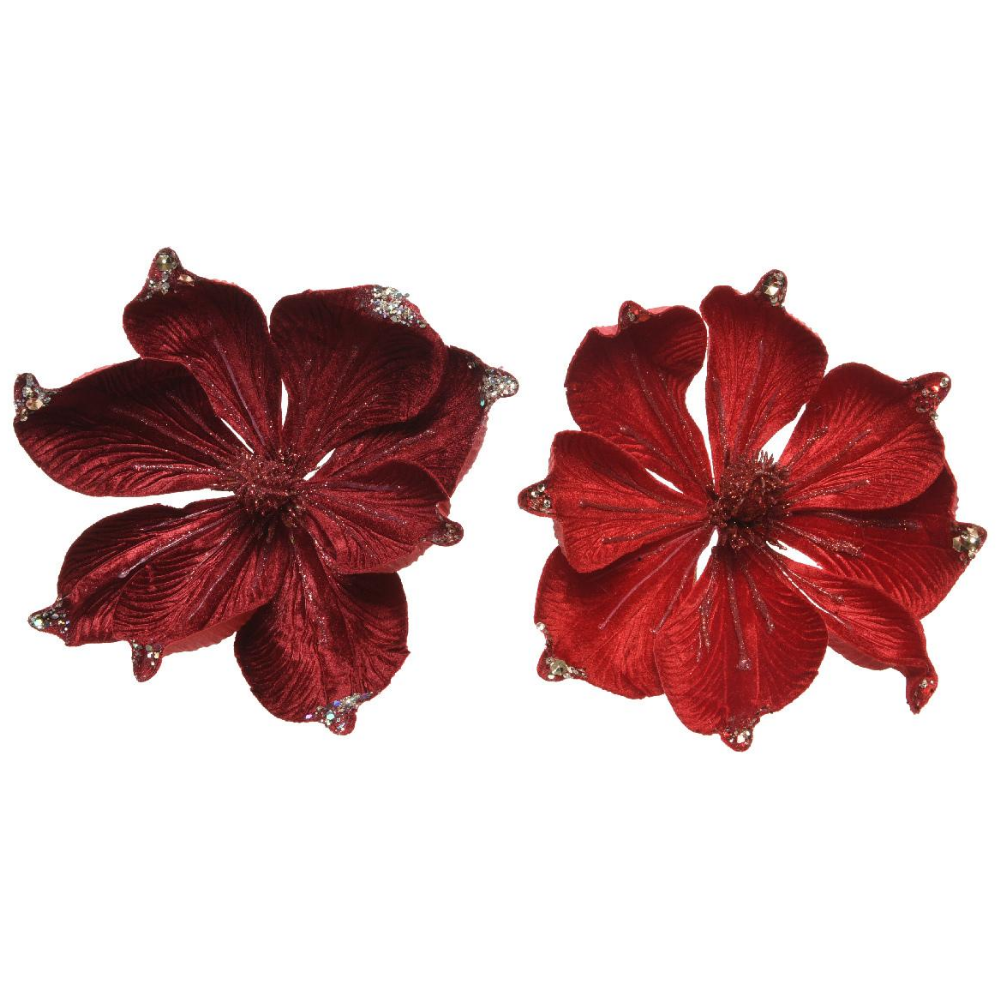 Christmas Poinsettia Decoration Oxblood/Red