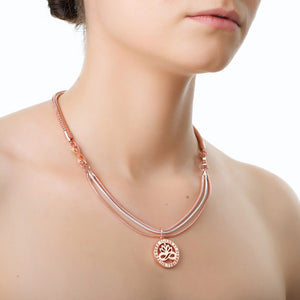 Rose Gold & Silverplate Pendant