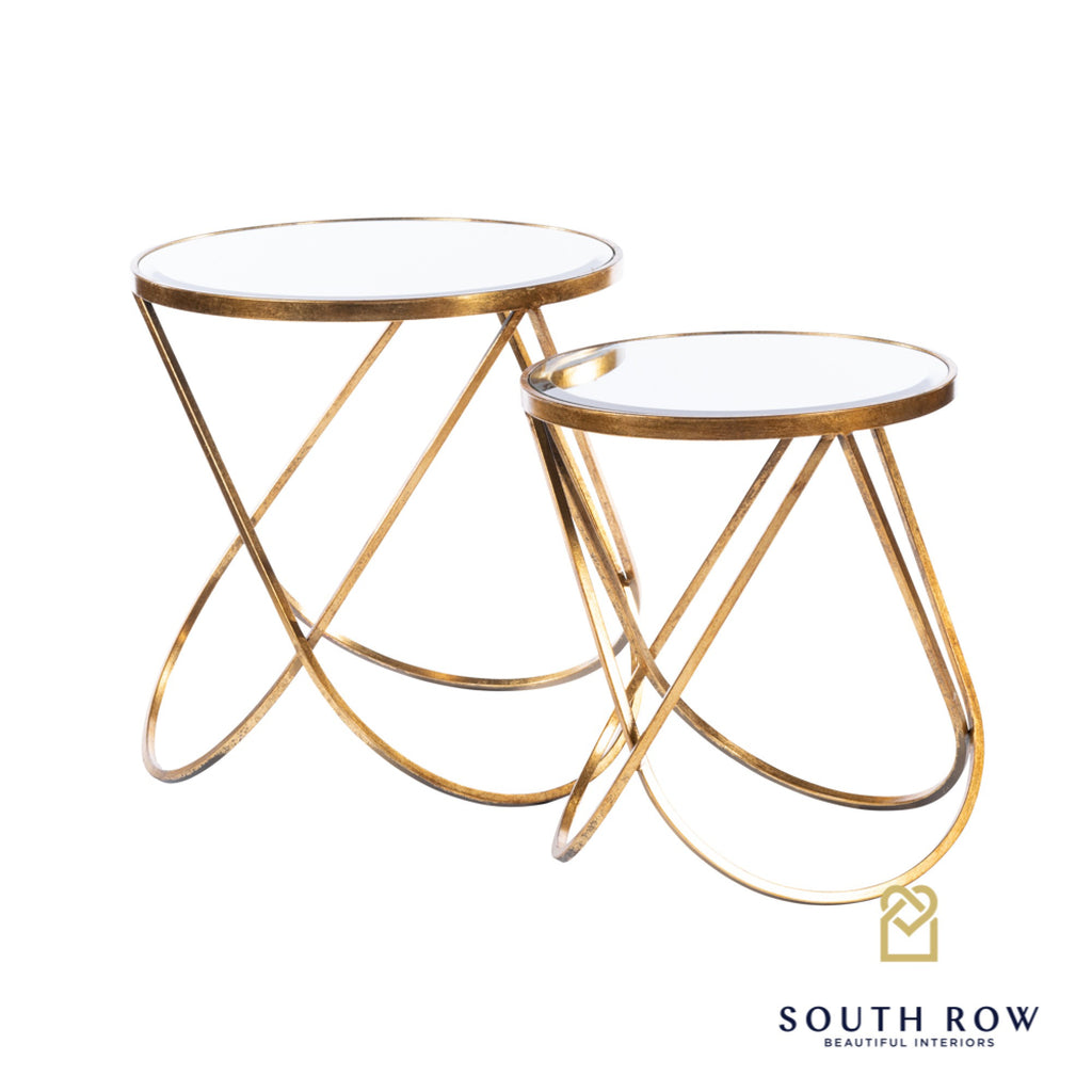 PRE ORDER** Harriet Side Tables Set of 2, Gold