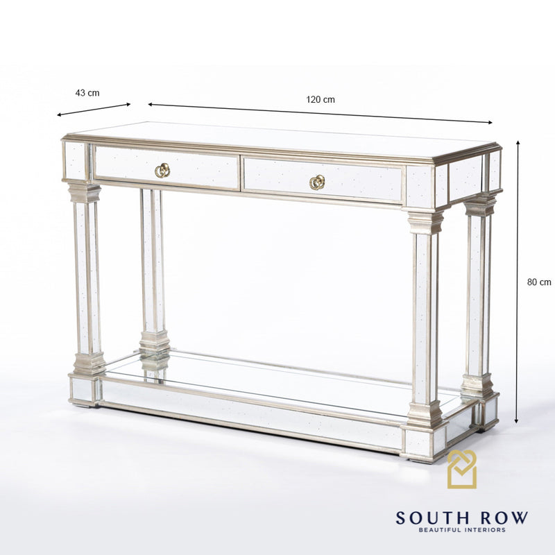 PRE ORDER** Varese Aged Mirror Console Table