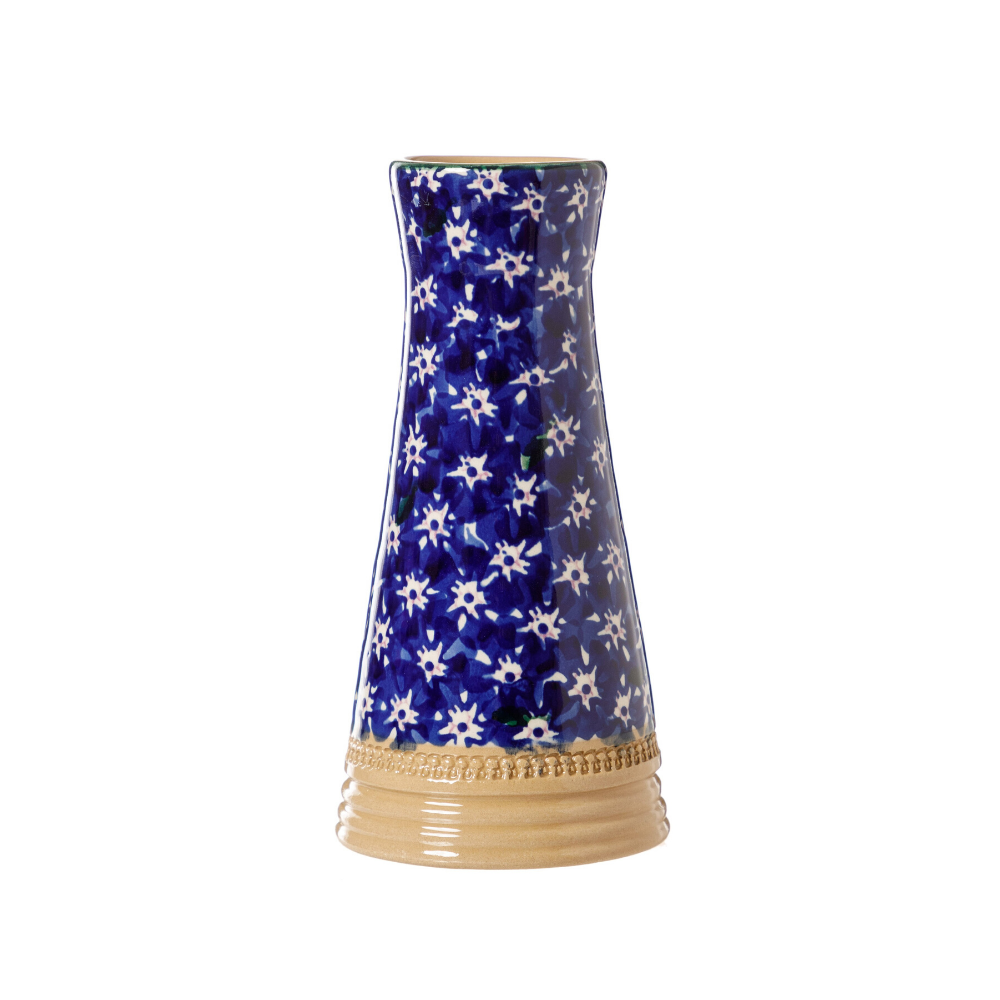 Small Tapered Vase Dark Blue Lawn