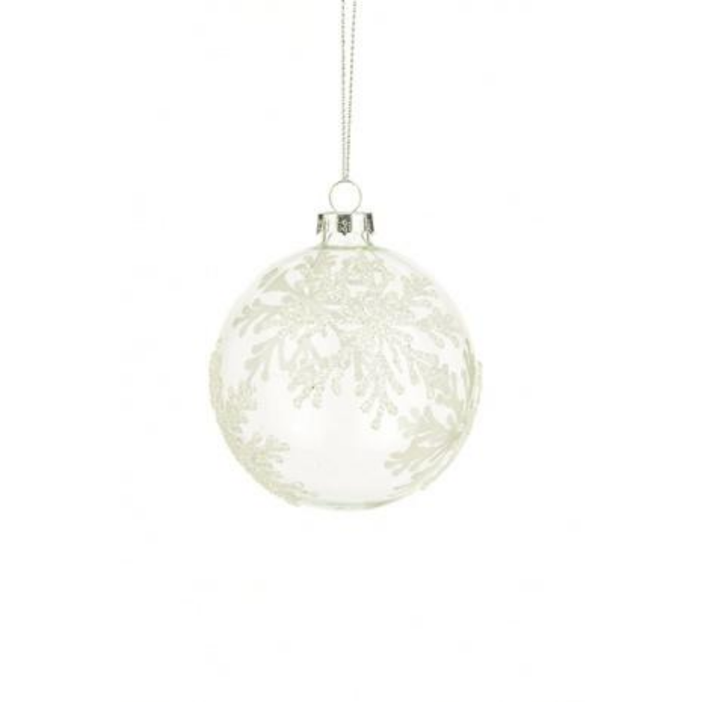 Snowflake Glass Bauble