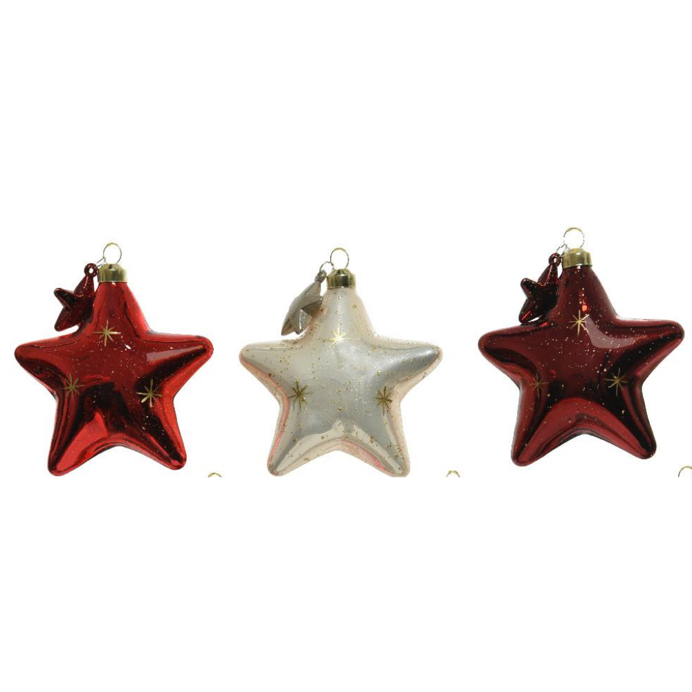 3 Assorted Star Baubles