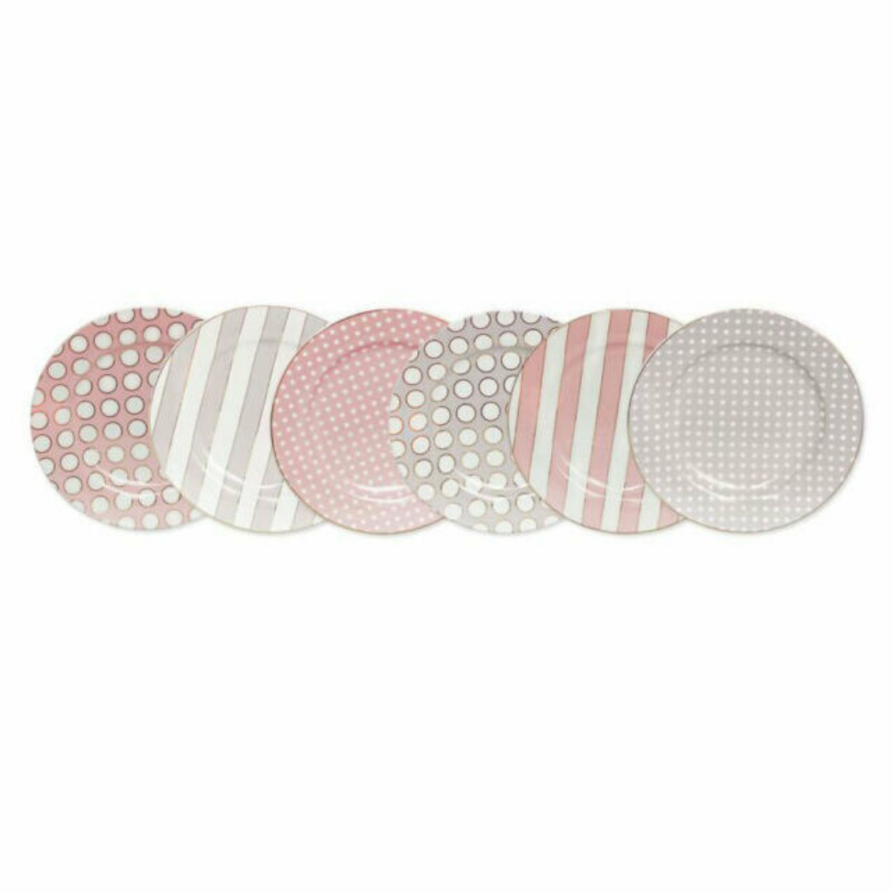 Spots and Stripes Side Plates Set of 6