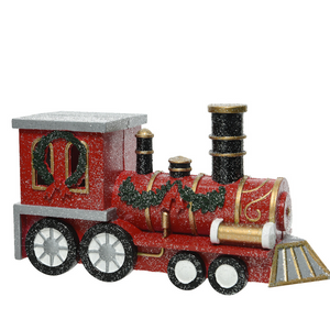 Traditional Christmas Train With Glitter