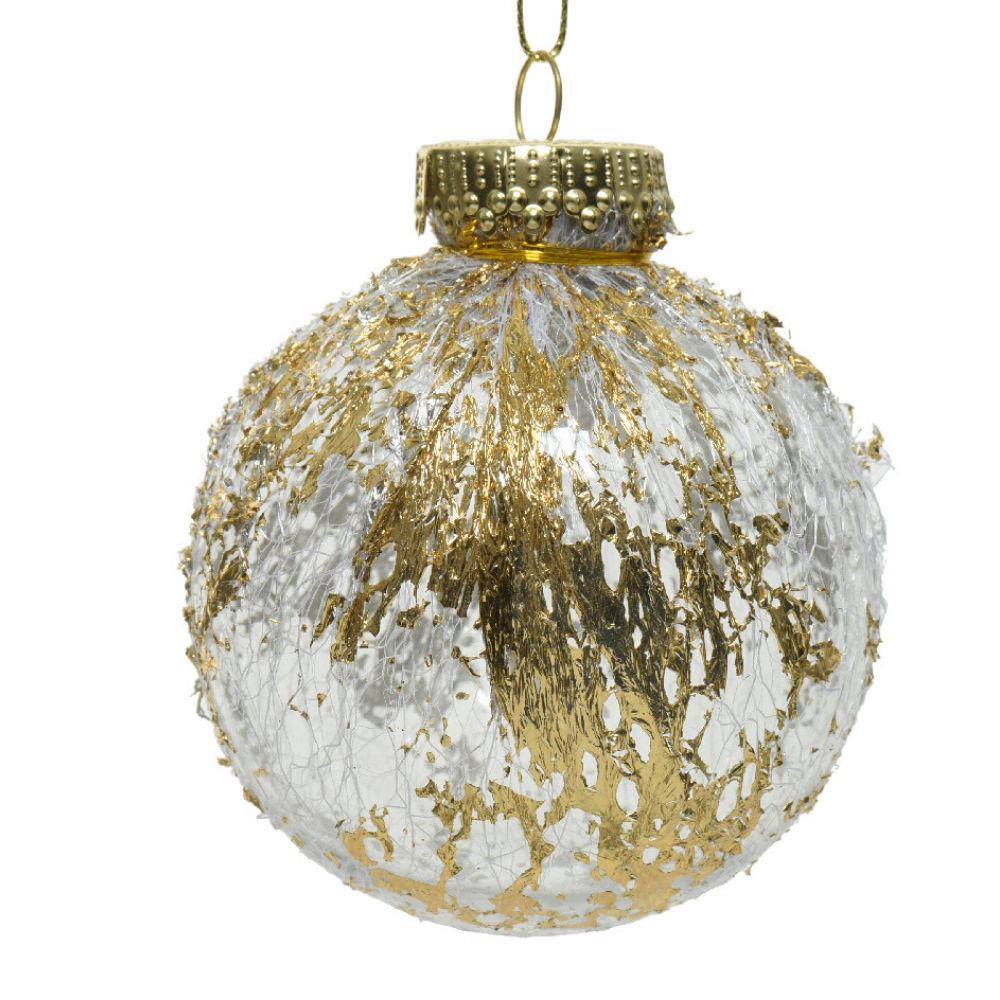 Transparent/ Gold Christmas Bauble