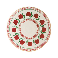 "9"" Footed Cake Plate Apple"