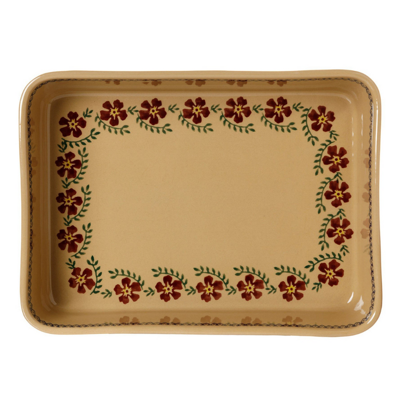 Large Rectangle Oven Dish Old Rose