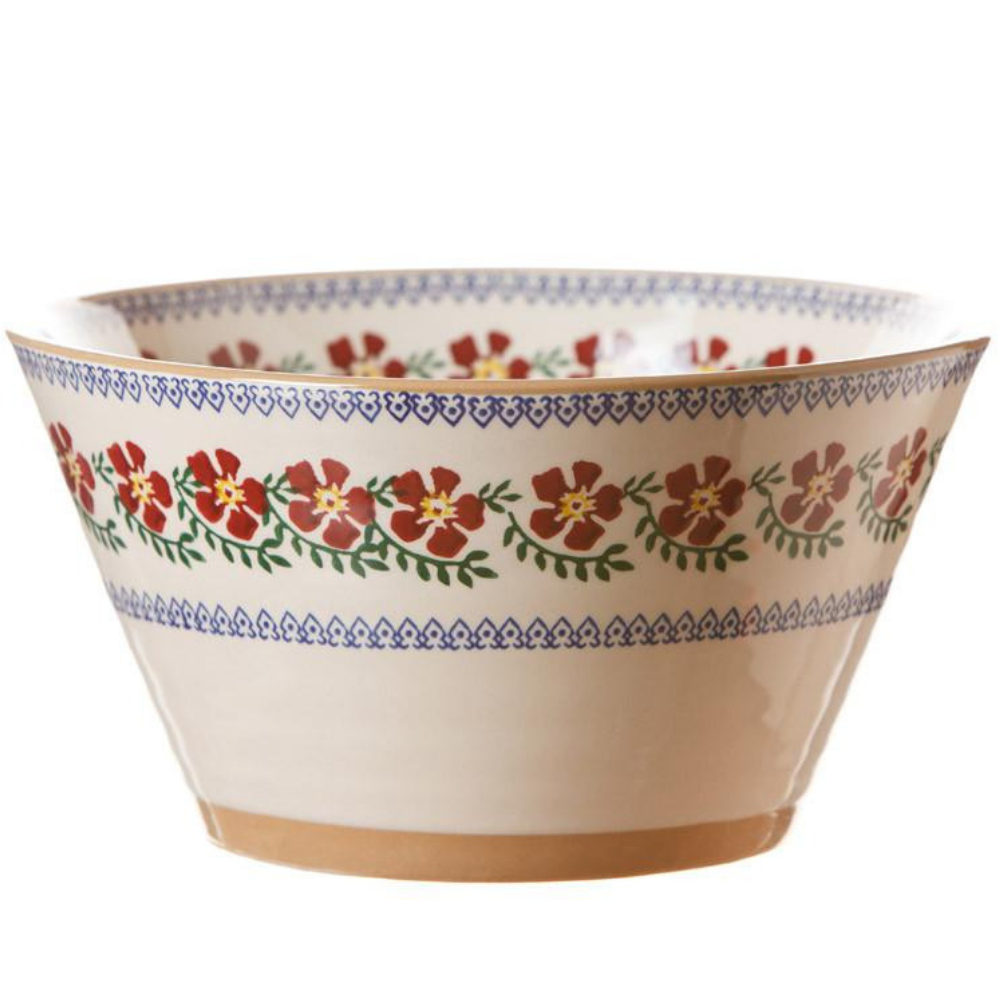 Large Angled Bowl Old Rose
