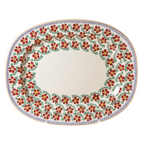 Oval Platter Old Rose