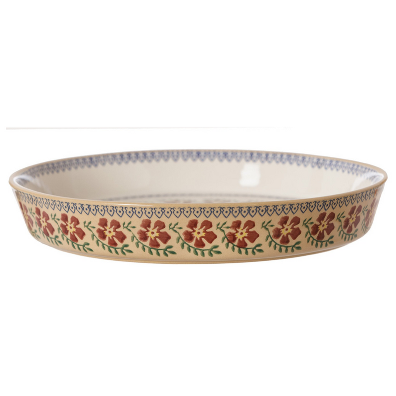 Large Quiche Dish Old Rose