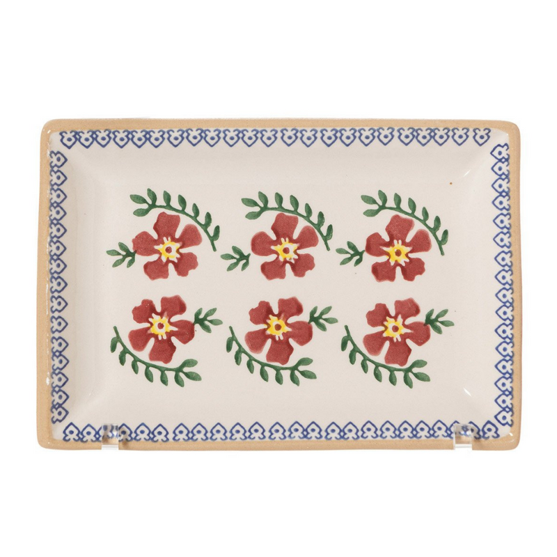 Rectangle Dishes Old Rose