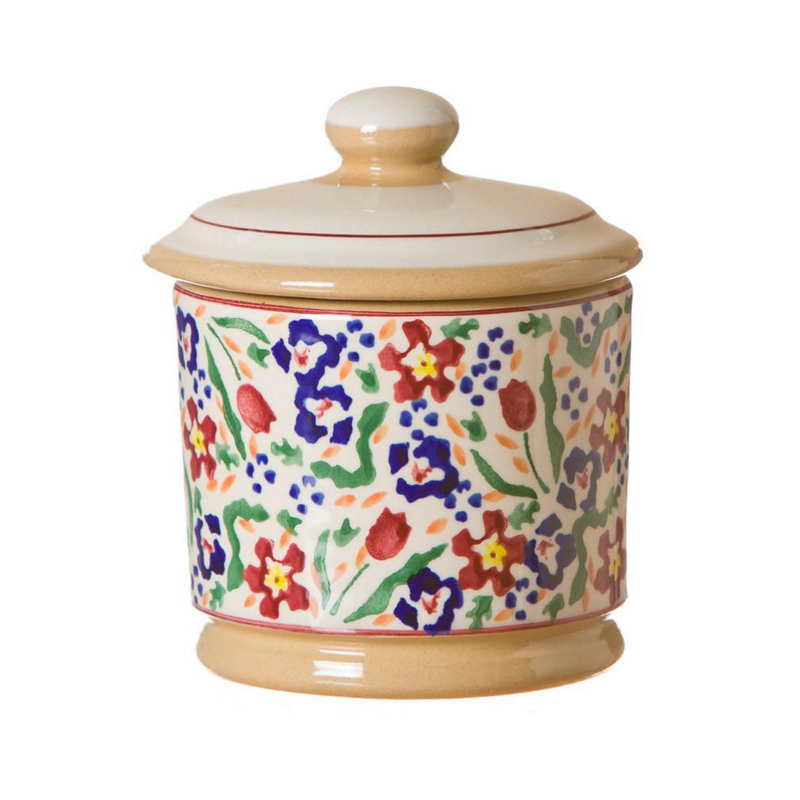 Lidded Sugar Bowl Wild Flower Meadow