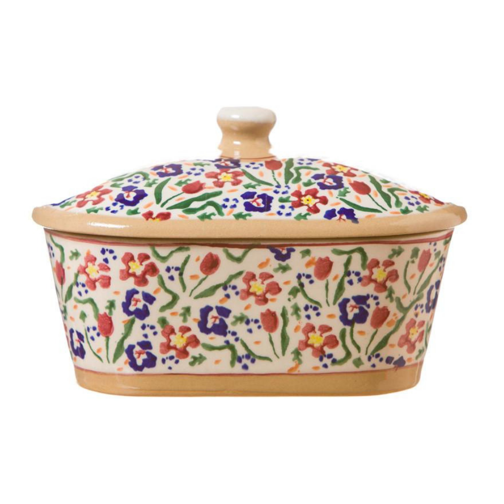 Covered Butter Dish Wild Flower Meadow