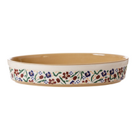 Small Oval Oven Dish Wild Flower Meadow