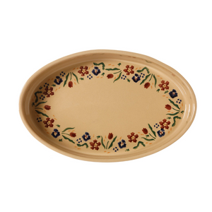 Medium Oval Oven Dish Wild Flower Meadow
