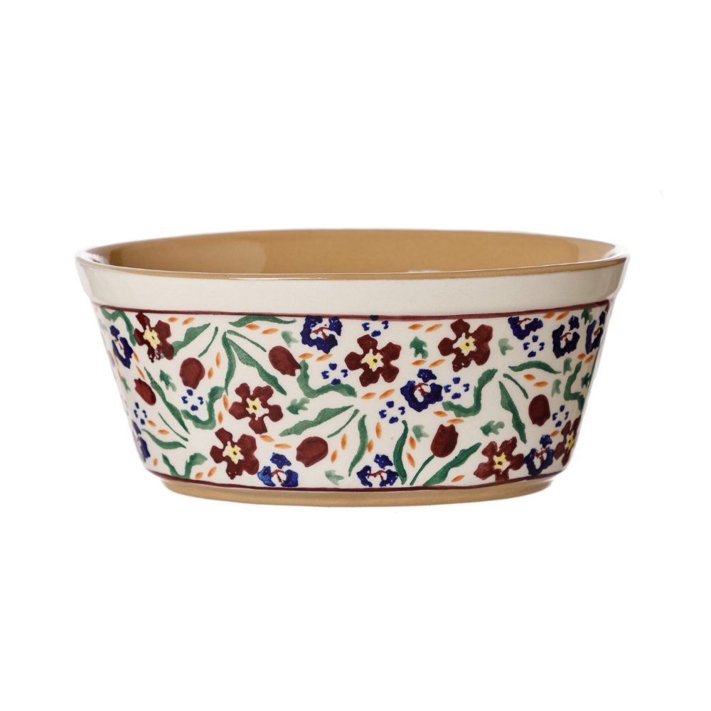 Small Oval Pie Dish Wild Flower Meadow