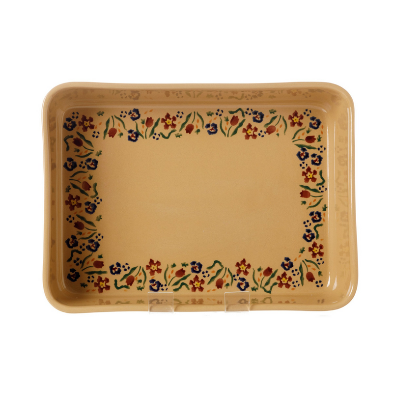 Large Rectangle Oven Dish Wild Flower Meadow