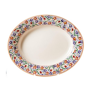 Oval Serving Dish Wild Flower Meadow