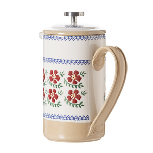 Large Cafetiere Old Rose