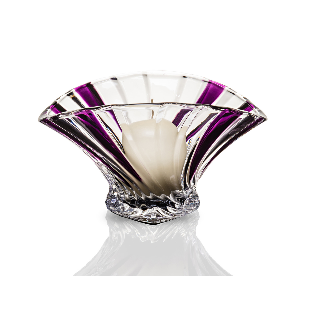 Purple Fan Ball Candle Holder