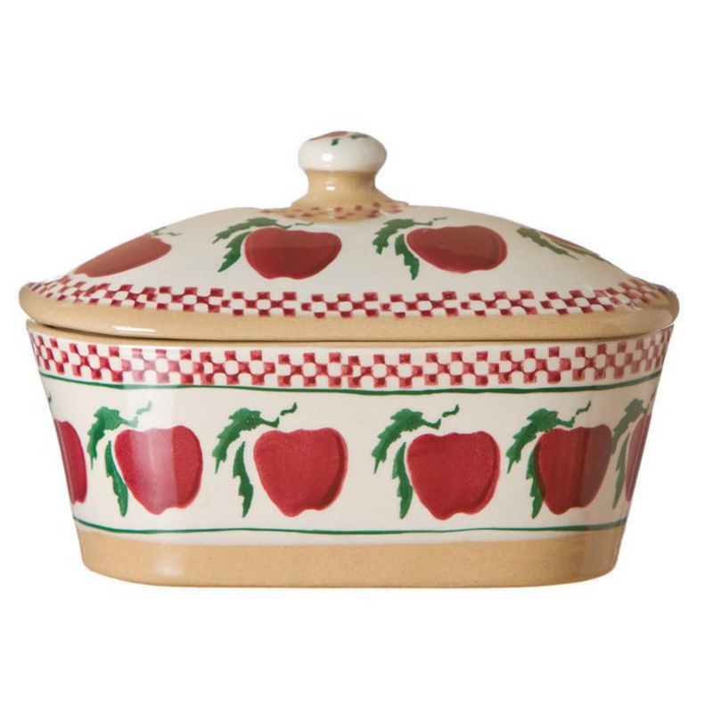 Covered Butter Dish Apple