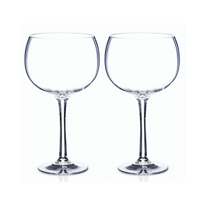 Set of 2 Clear Gin Glasses