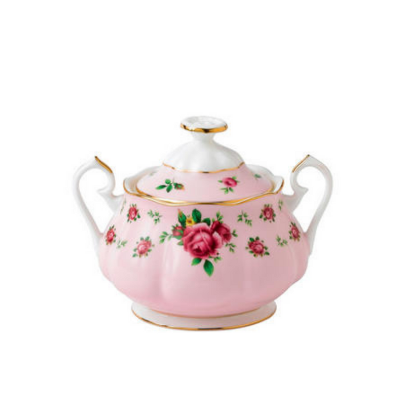 New Country Roses Pink Vintage Covered Sugar Bowl