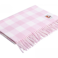 Pink Check Baby Blanket