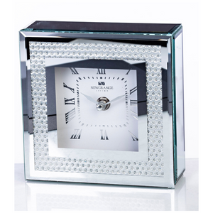 Silver Gemstone Clock