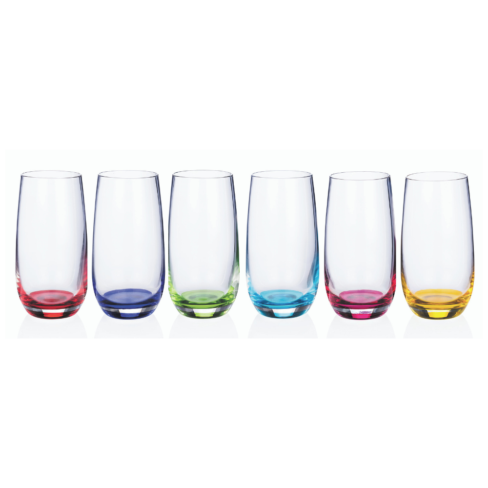 Rainbow Party Hi Ball Glasses