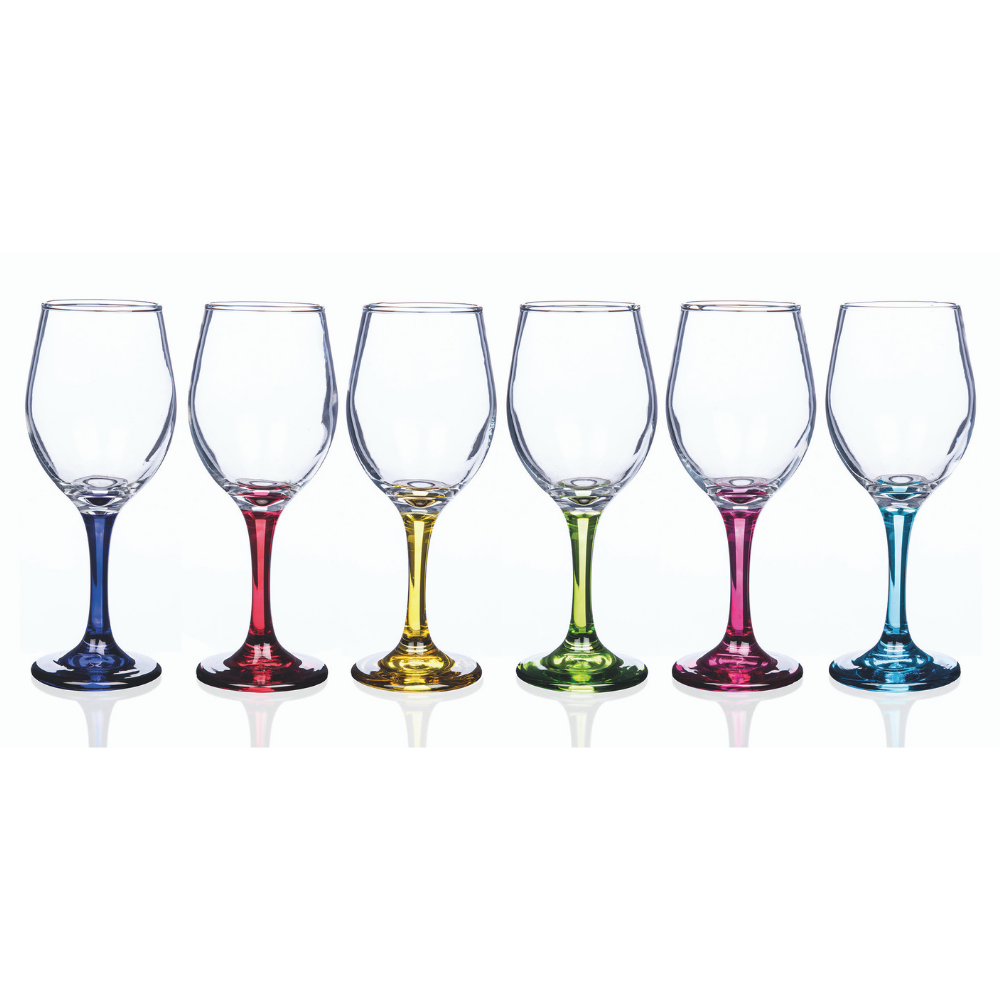 Rainbow Party Wine Glasses