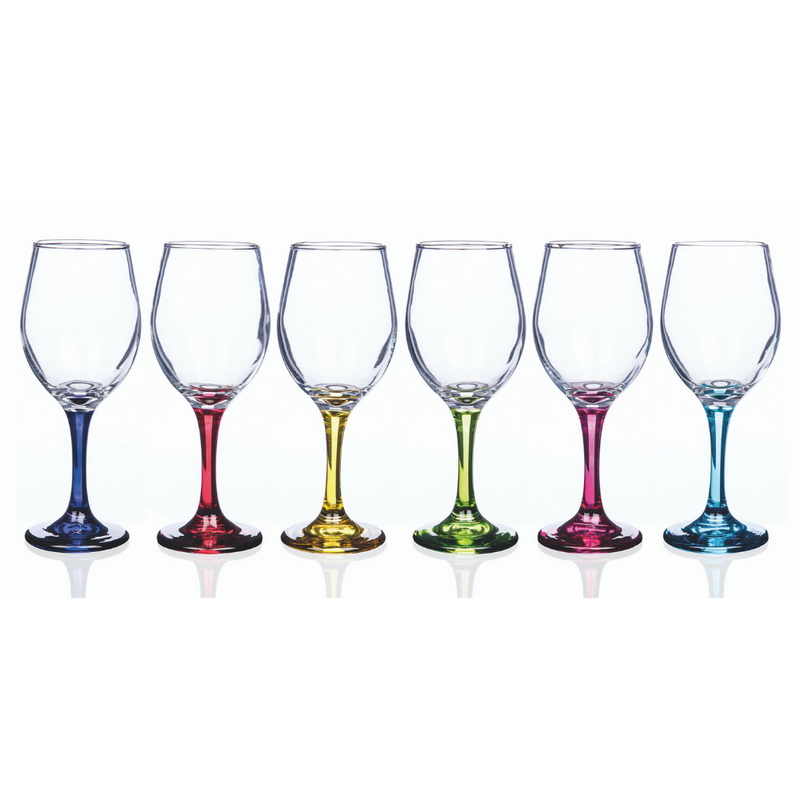 Rainbow Party Vienna Wine Glasses