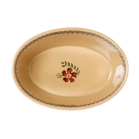 Small Oval Pie Dish Old Rose
